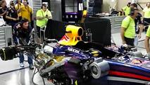 Mark Webber fires up Red Bull RB9 for last time 24.11.2013