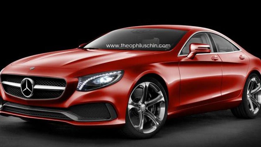 Mercedes-Benz SSC rendered as a four-door S-Class Coupe