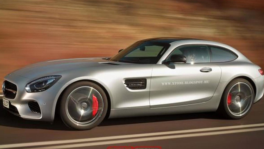 Mercedes-AMG GT rendered into a shooting brake