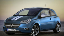 Next-gen Opel Corsa rendered based on spy photos