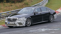 2017 Mercedes-AMG S63 facelift spy photo