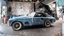 Jaguar XK140 Michelotti abandonado en garaje