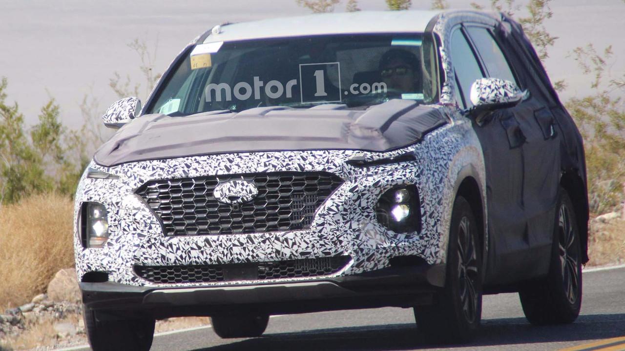 2019 Hyundai Santa Fe casus fotoğraflar