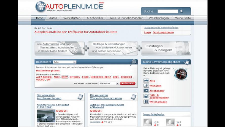 Autofahrer helfen Autofahrern: www.autoplenum.de gestartet