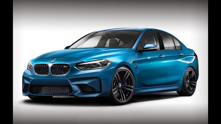 Recém-revelado, BMW Série 1 Sedan veste o traje esportivo