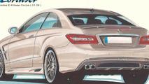 Lorinser E-Class Coupe tuning program design sketch
