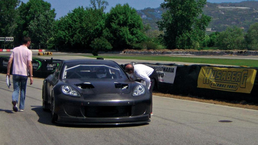 Porsche Panamera racer takes first steps on race track