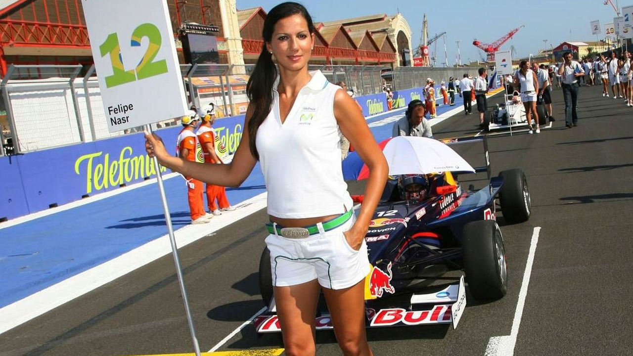 Grid Girls, European Grand Prix, Valencia Spain 20.08.2009