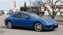 2017 Porsche Panamera Turbo spied alongside the standard model