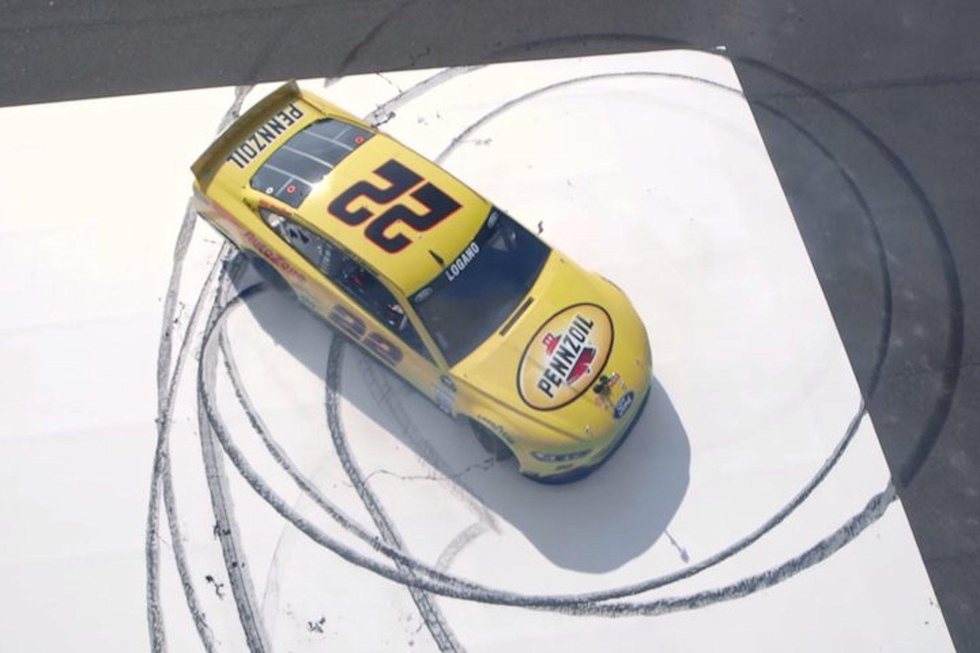 Watch NASCAR Driver Joey Logano Turn Rubber Into Art
