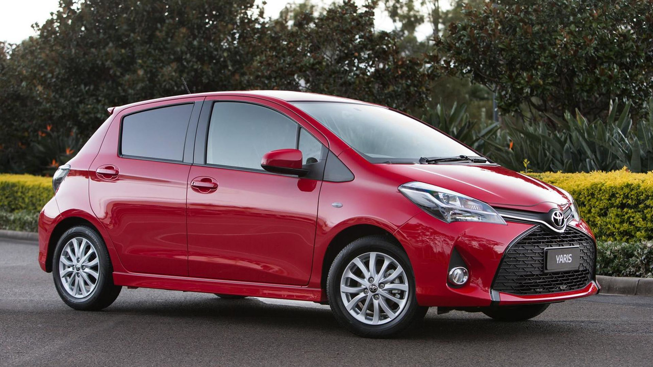 Toyota Yaris facelift (pre-production AU-spec)