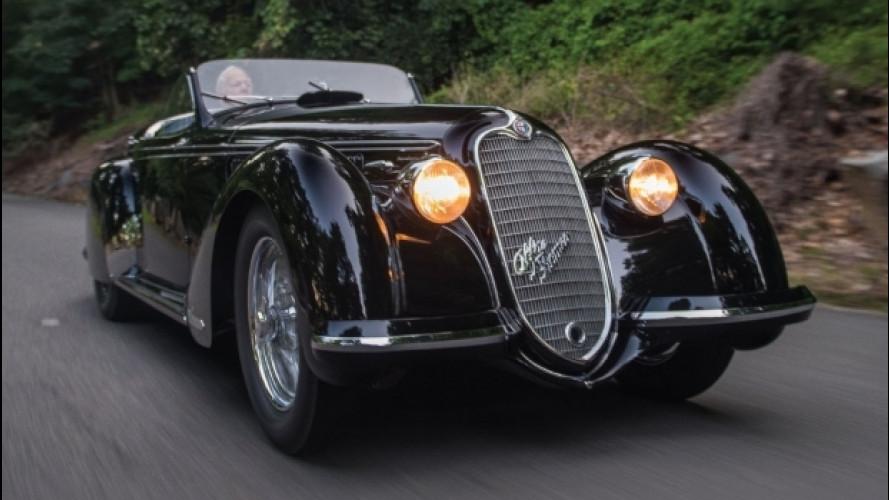 L'Alfa Romeo da 20 milioni di dollari va all'asta a Monterey [VIDEO]