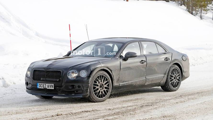 New Bentley Flying Spur Spied Testing With Plug-In Hybrid Setup