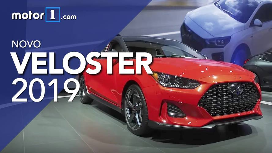Vídeo - Novo Hyundai Veloster 1.6 Turbo 2019 no Salão de Detroit