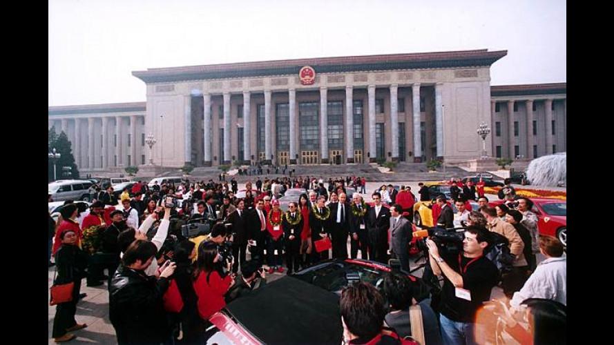 Zweimal rot: Ferrari feiert zehn Jahre Präsenz in China