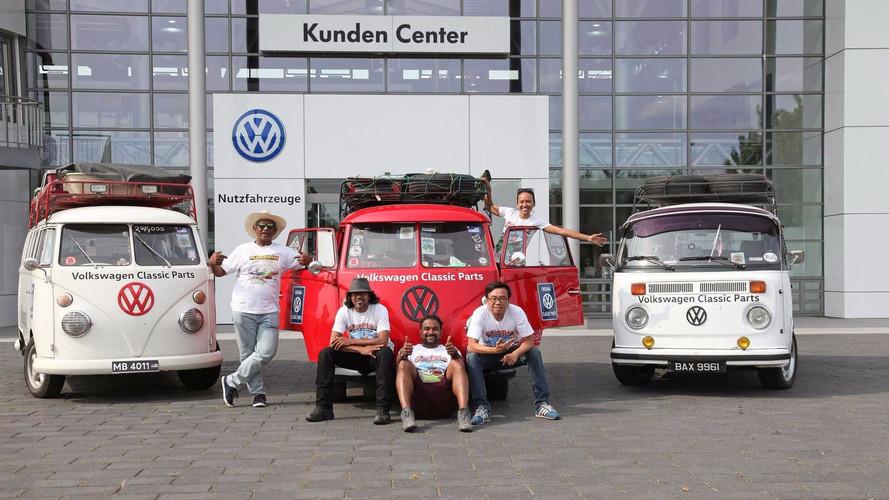 Un viaje de 20.000 kilómetros a bordo de tres VW Combi clásicas