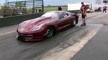 4,000 horsepower Corvette dragster flies after 200 mph wheelie