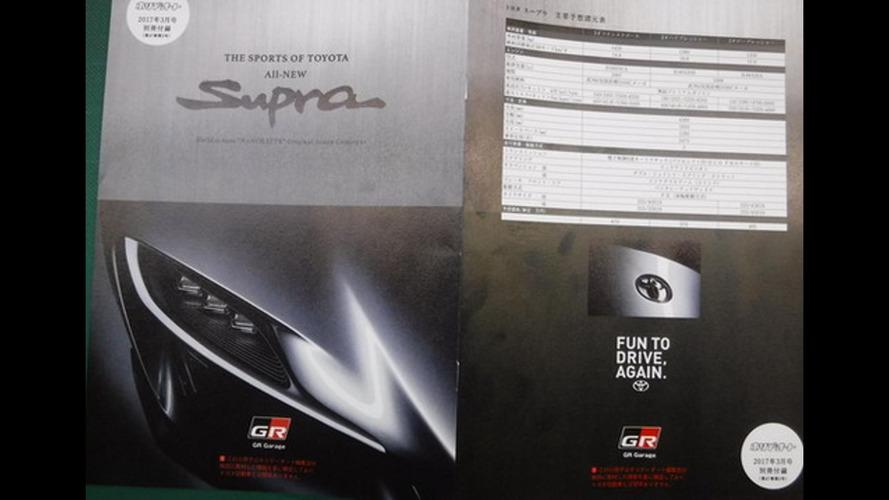La brochure de la future Toyota Supra en fuite !