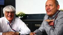 Bernie Ecclestone and Ron Dennis, McLaren