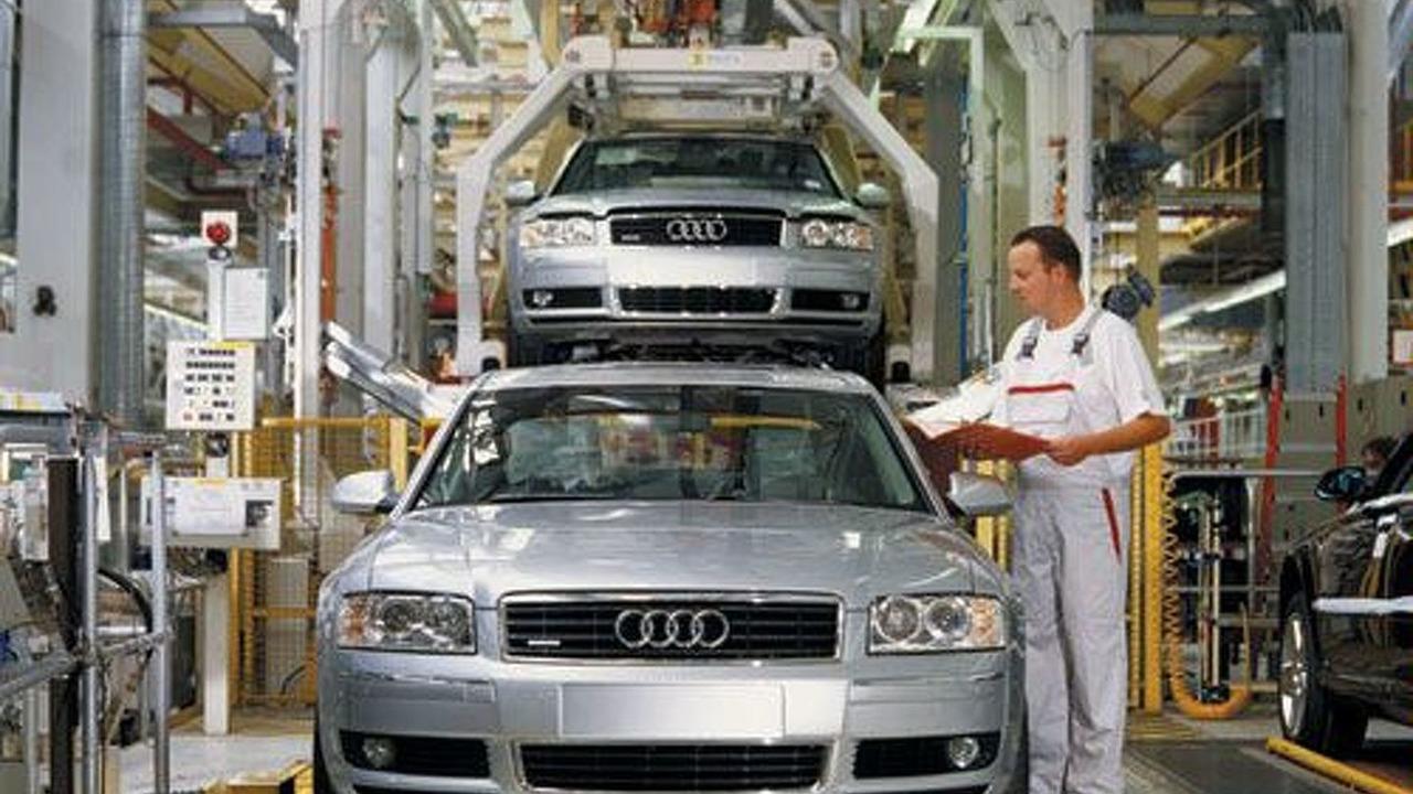 Audi A8 production