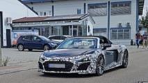 2019 Audi R8 Spyder spy photos