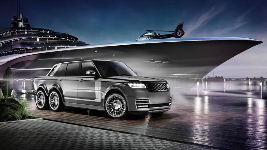 Jachttervezőtől érkezik a Range Rover pickup 6x6