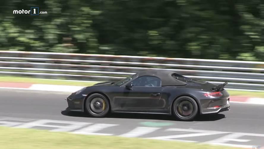 Porsche 911 Speedster Spied Looking Speedy Around The Nürburgring