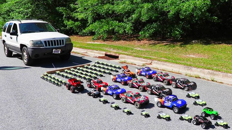 How Many Toy Cars Are Needed To Pull A Jeep Grand Cherokee?