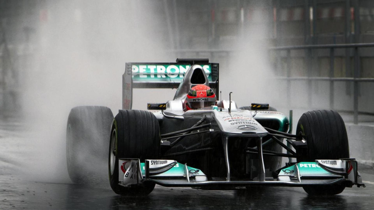 Michael Schumacher  in Mercedes W02 F1 car
