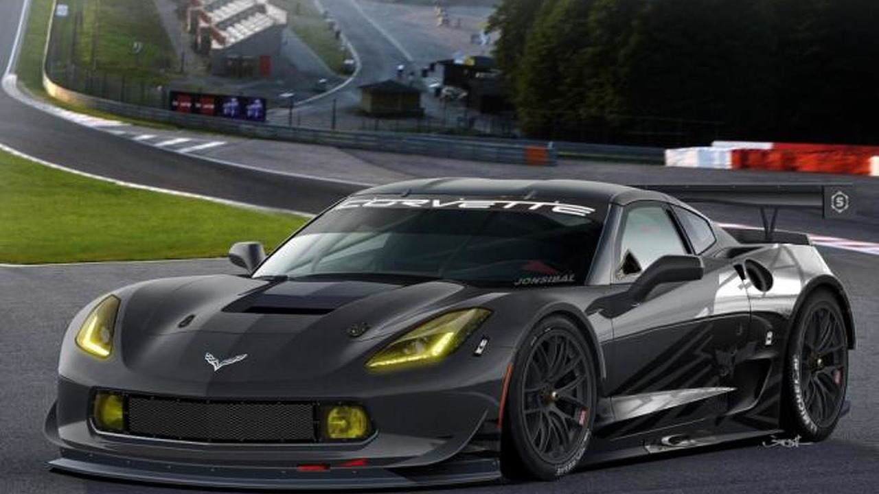 2014 Chevrolet Corvette C7R render by Jon Sibal