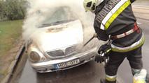 Autótűz Debrecenben