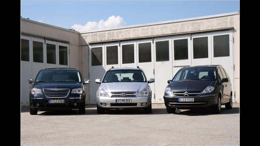 The Big Three: Drei geräumige Dieselvans im Test