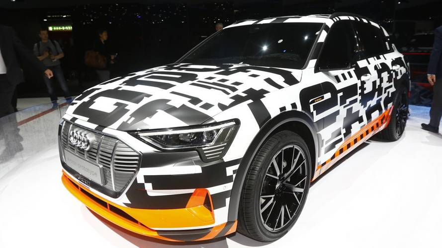 Audi shows near-production spec E-Tron in Geneva