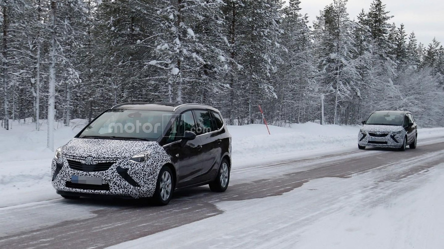 2017 Opel Zafira spied with more conventional headlights