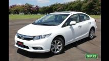Novo Honda Civic 2012 é lançado no Brasil - Sedan muda visual e evolui em tecnologia