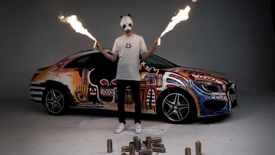 Mercedes CLA art car unveiled