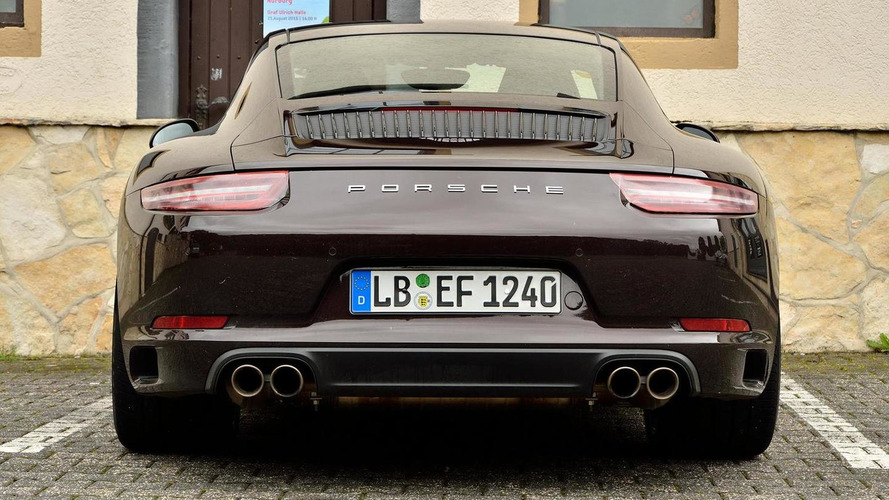 2016 Porsche 911 Carrera S facelift spied up close at the Nürburgring with almost no makeup