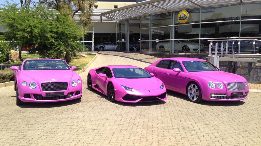 Lamborghini and Bentley go pink for Breast Cancer Awareness Month