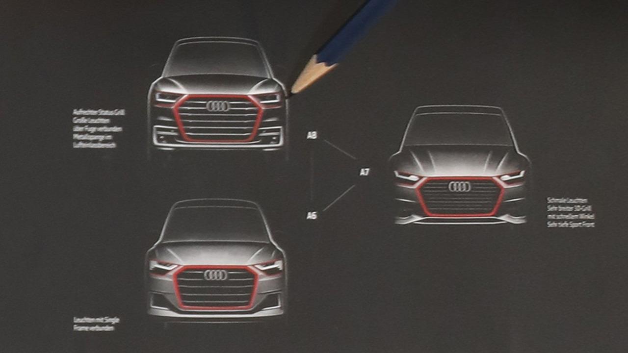 Next-generation Audi A8, A7, A6 official design sketch