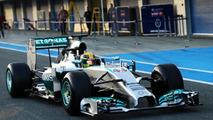 Lewis Hamilton Mercedes AMG F1 W05  Formula One Testing Jerez Spain