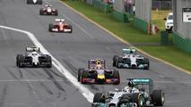 Lewis Hamilton (GBR) Mercedes AMG F1 W05 on the formation lap, 2014 Australian Grand Prix