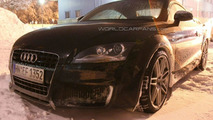 Spied Audi TT RS sports wide wheel arches