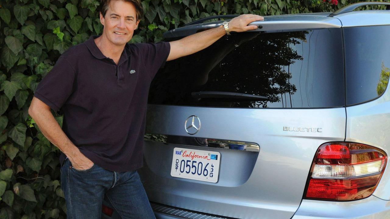 Actor Kyle MacLachlan drives a BlueTEC model