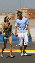 Jenson Button and girlfriend Jessica Michibata, European grand prix, Valencia Spain 20.08.2009