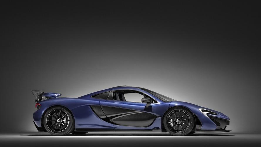 McLaren P1 with exposed carbon fiber body