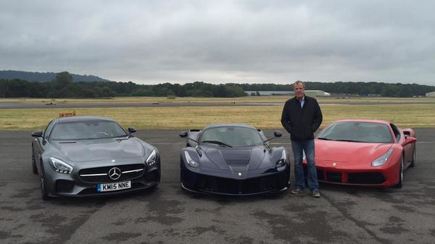 Jeremy Clarkson puts in his last lap on the Top Gear test track