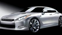 Nissan GT-R sedan artist interpretation sketch