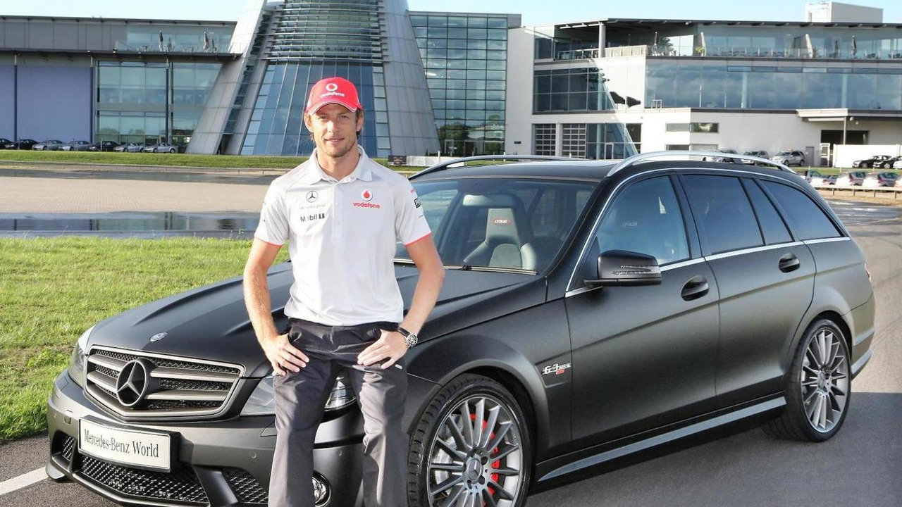 Formula One World Champion Jenson Button collects his new DR 520 from Mercedes-Benz World 24.08.2010