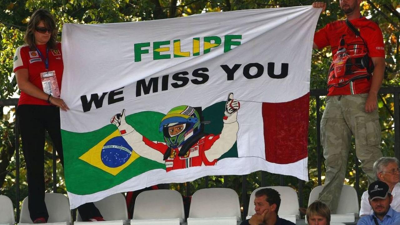 Fans of Felipe Massa (BRA), Scuderia Ferrari - Formula 1 World Championship, Rd 13, Italian Grand Prix