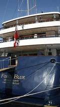 Flavio Briatore on the yacht Force Blue in the harbour of Monaco, Monaco Grand Prix, 24.05.2006 Monte Carlo